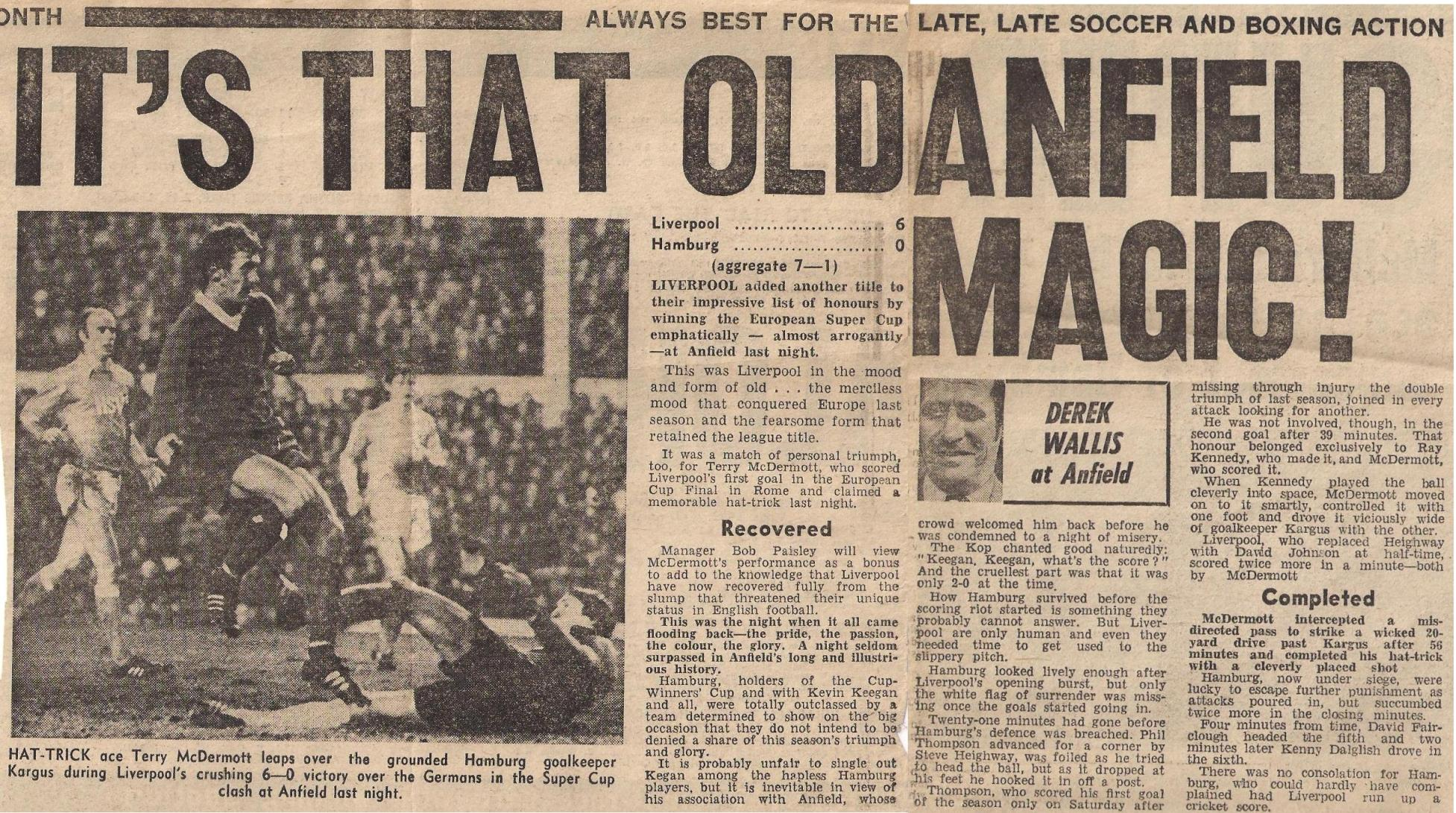 It's that old Anfield magic! - 6 December 1977