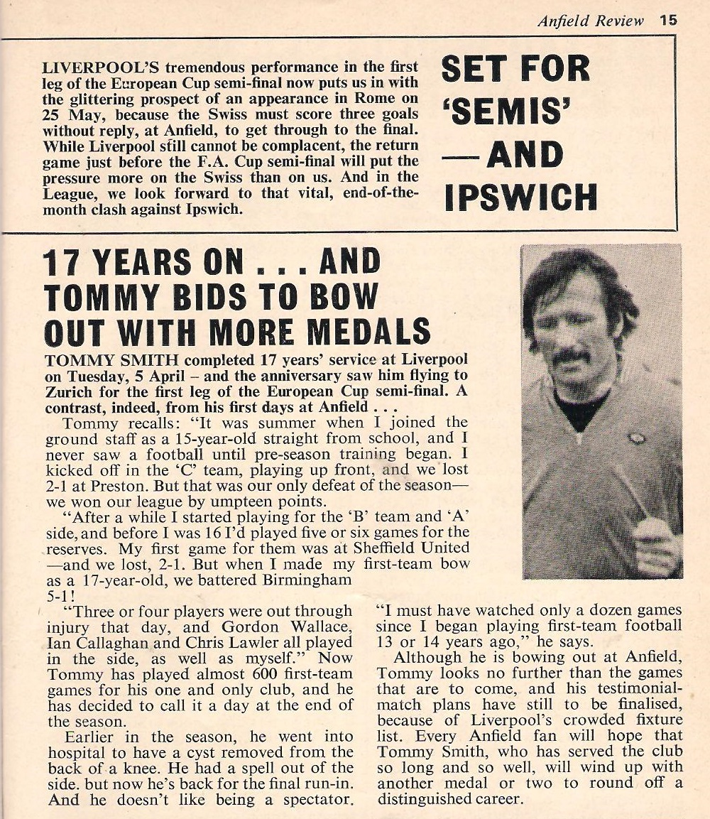 Ready for Zurich - Anfield Review 1977