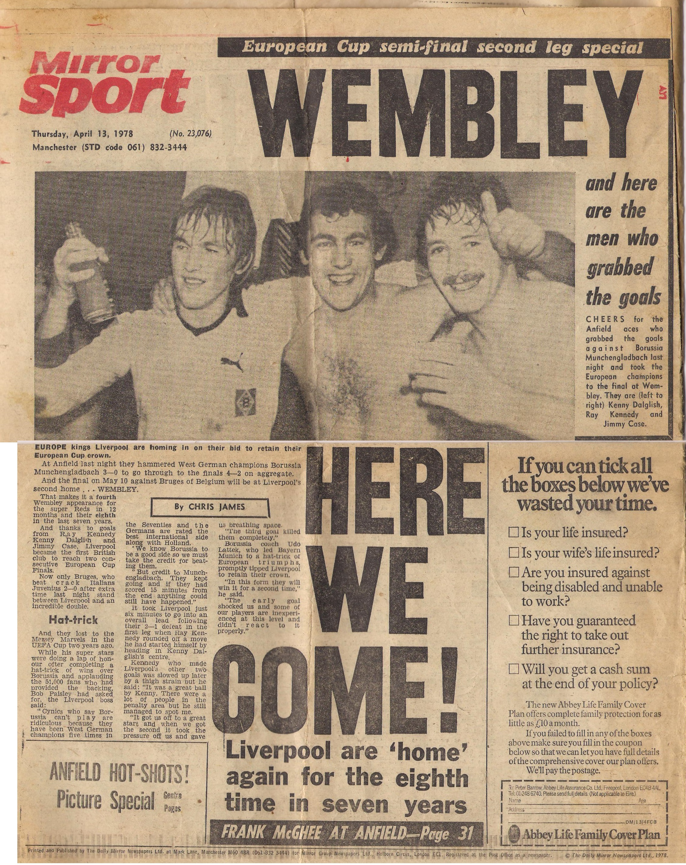 Wembley here we come - 12 April 1978