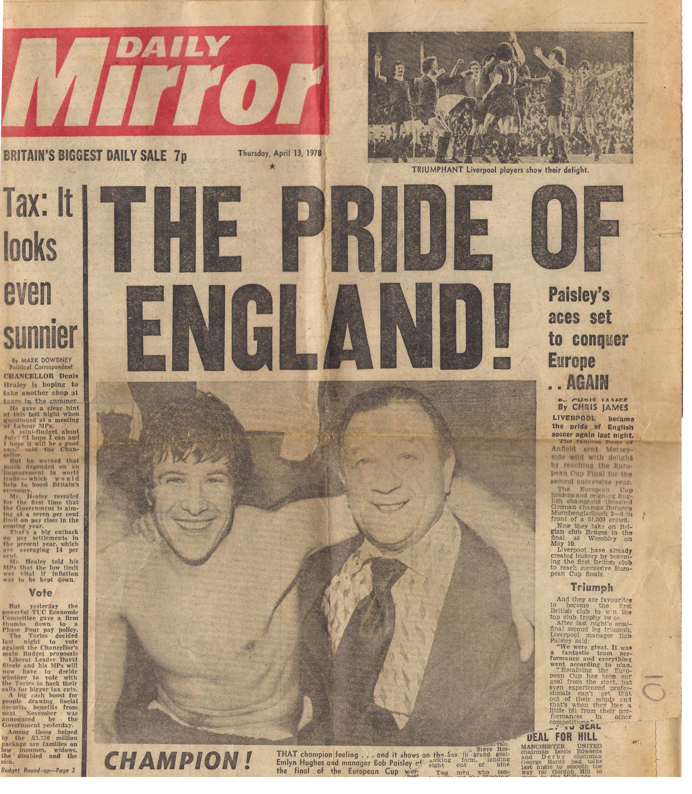 The pride of England - 12 April 1978