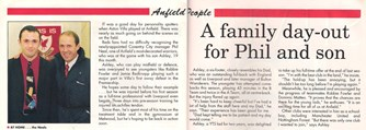 A family day out for Phil and son - Liverpool match programme in 1985
