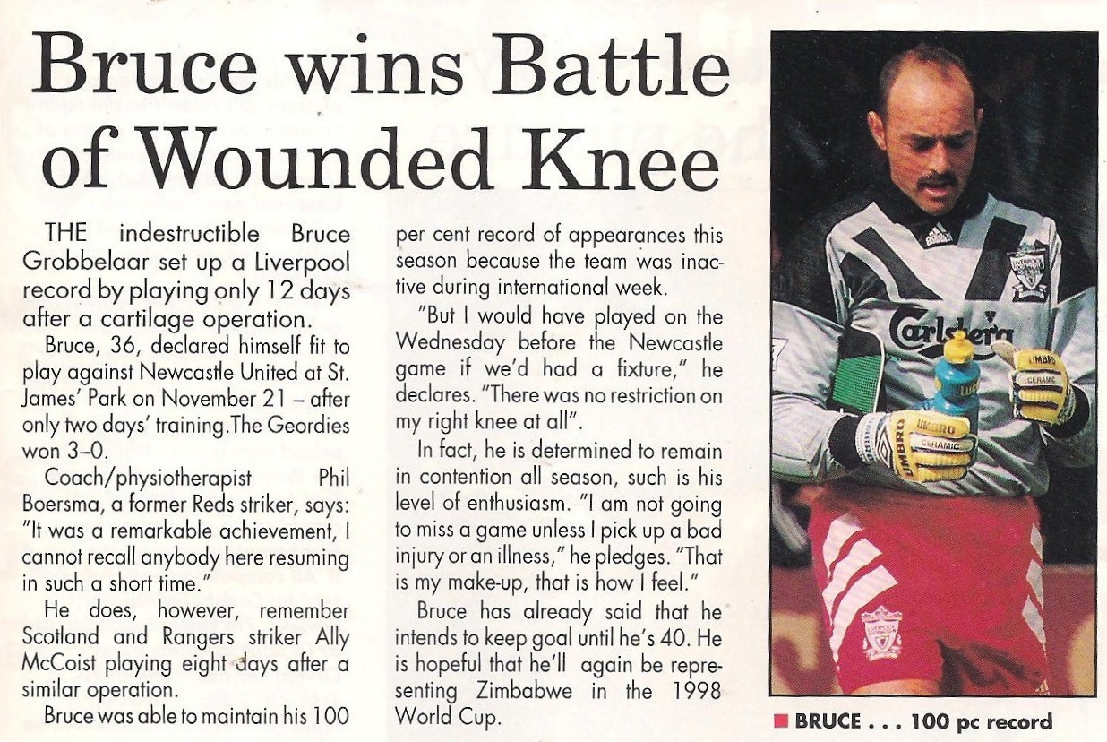 Bruce wins battle of wounded knee - 21 November 1993