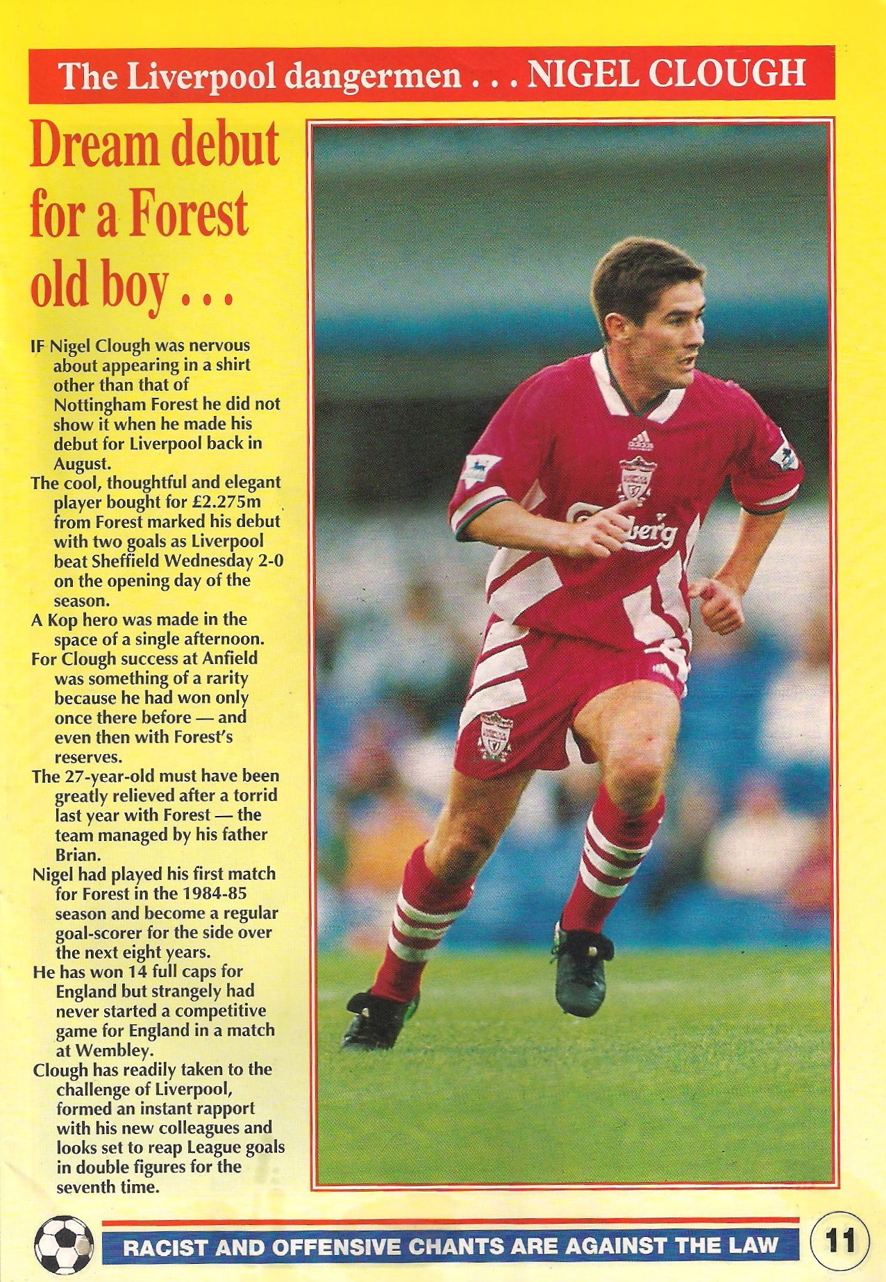Dream debut for a Forest old boy - LFC match programme 1993