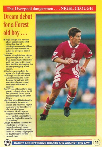 Dream debut for a Forest old boy - LFC match programme