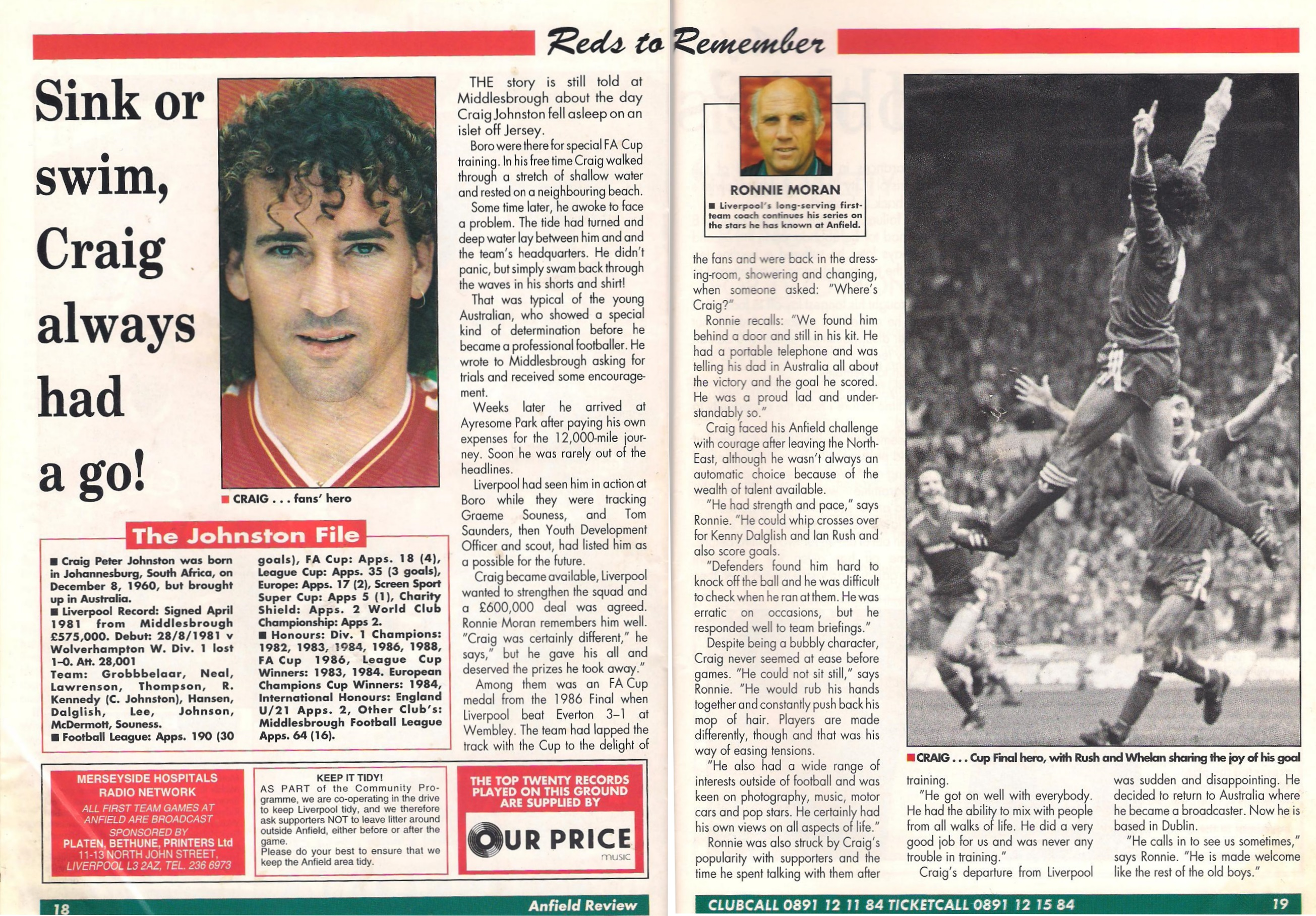 Reds to remember - Craig Johnston from Anfield Review