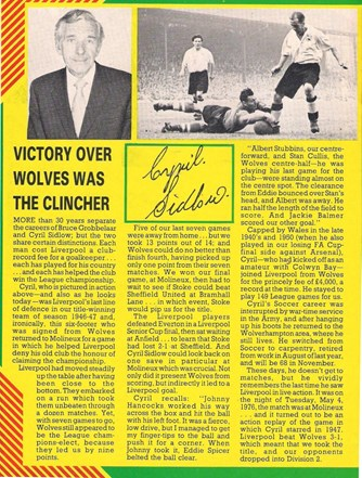 Victory over Wolves was the clincher - Cyril Sidlow