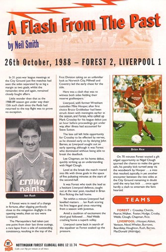 A Flash from the past - Anfield Review