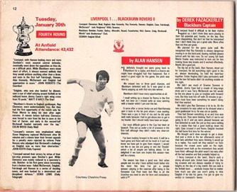 Review of match against Blackburn on 30 January 1979