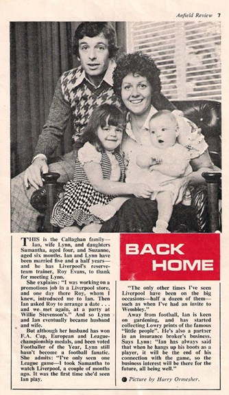 Back home with the Callaghans in 1975