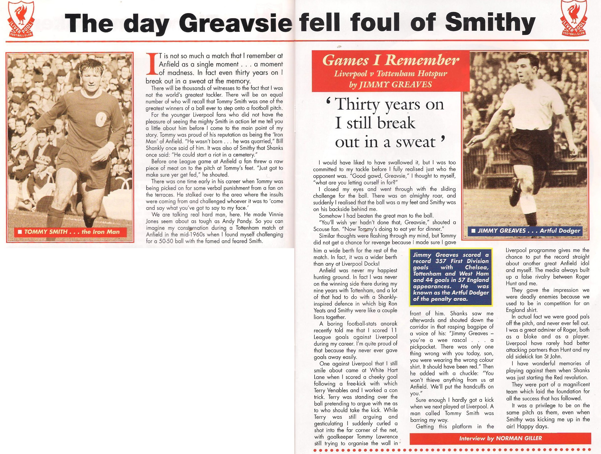 The day Greavsie fell foul of Smithy