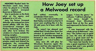 How Joey set up a Melwood record - 1984