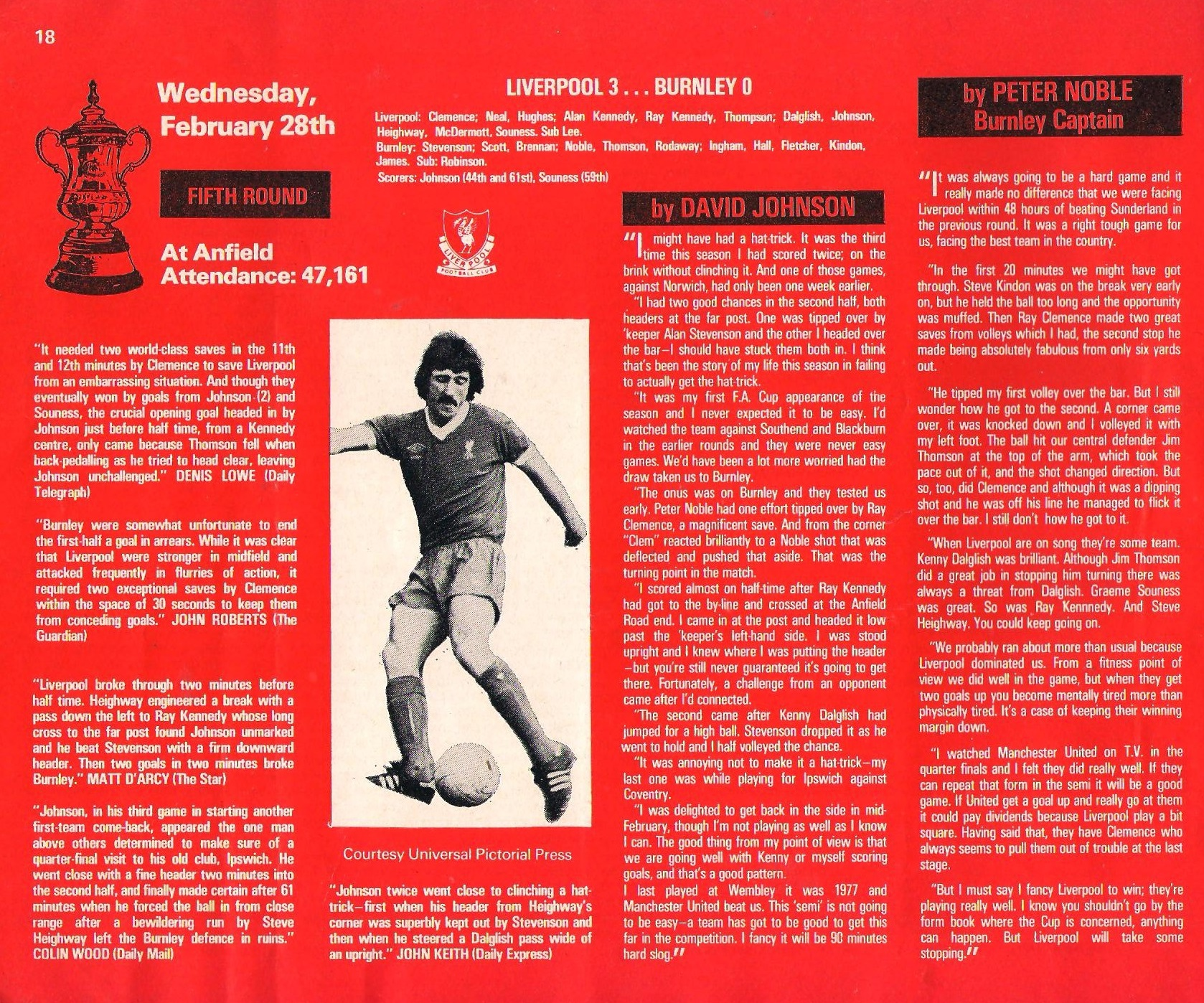 Game Review on Burnley on 28 February 1979