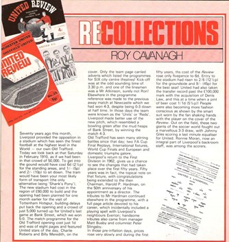 Recollections - feature in the United review