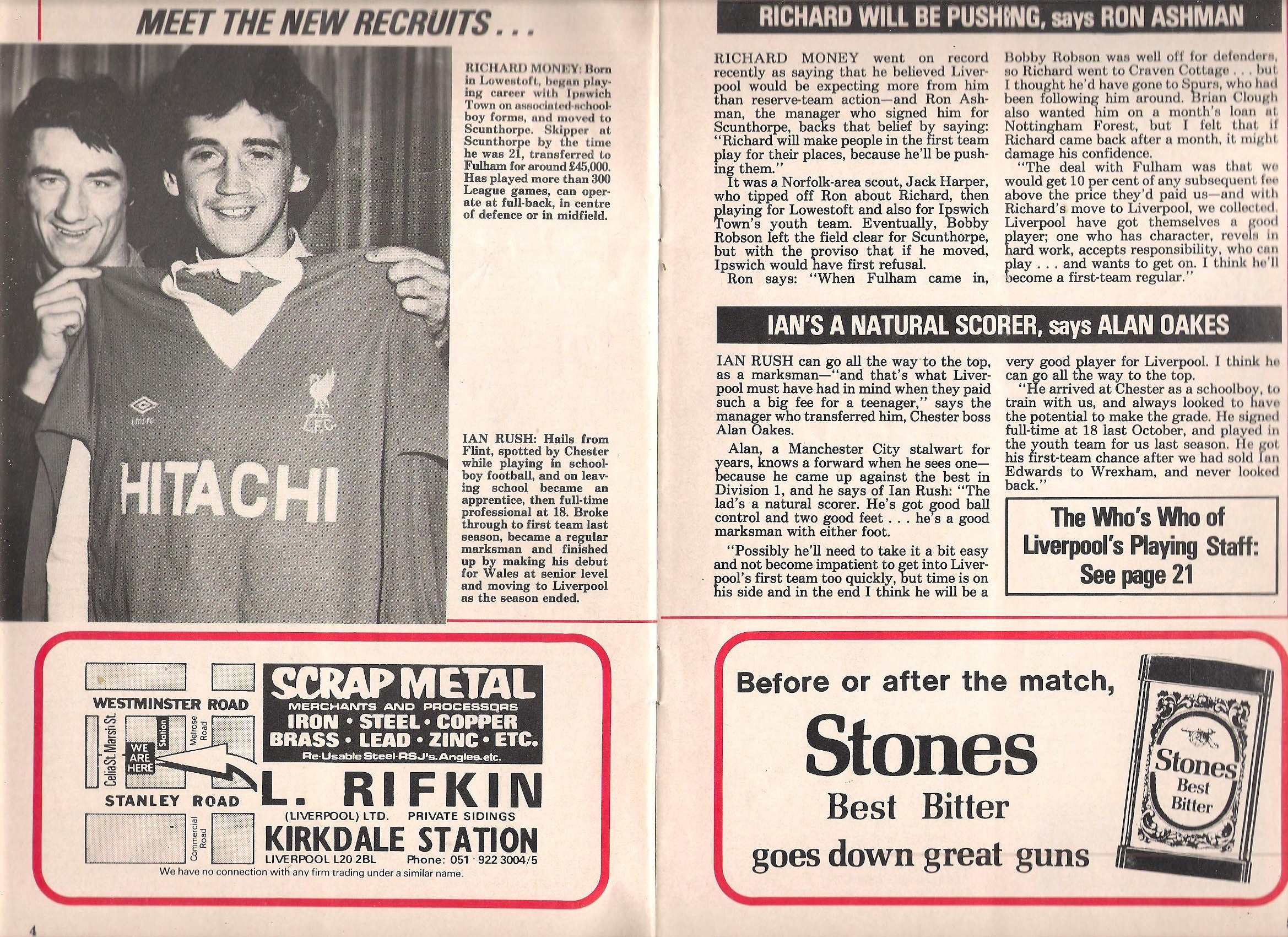 Meet the new recruits - Anfield Review in 1980
