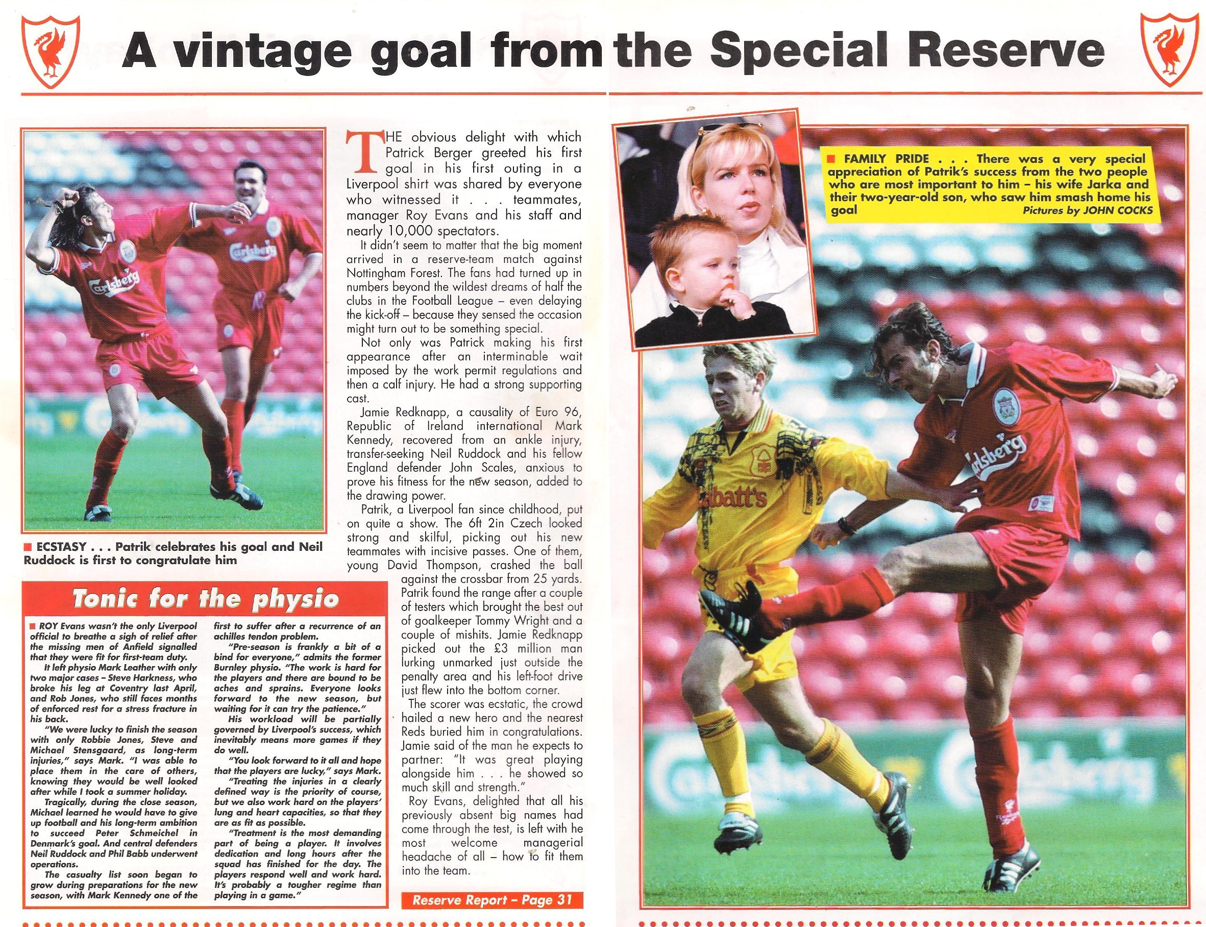 A vintage goal from the special reserve - 1996
