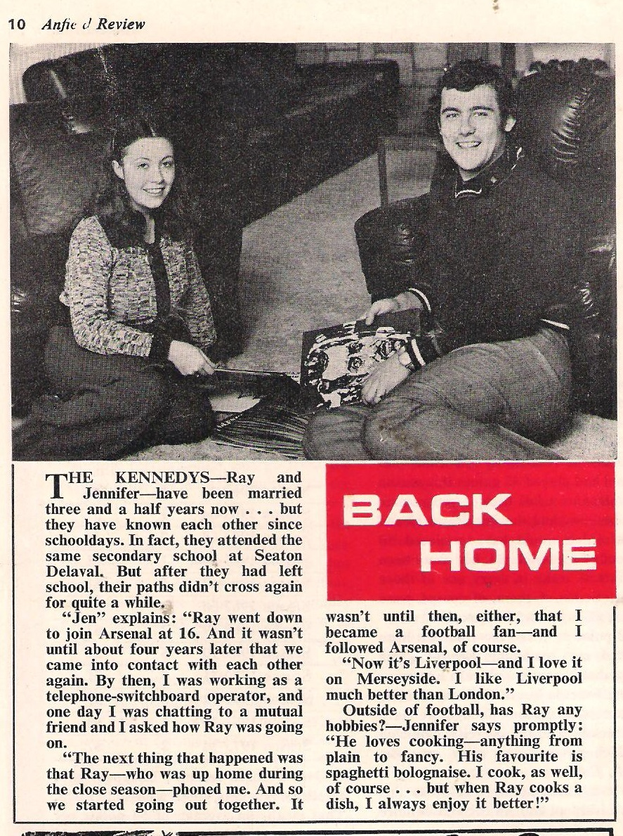 Back home - LFC match programme 1975