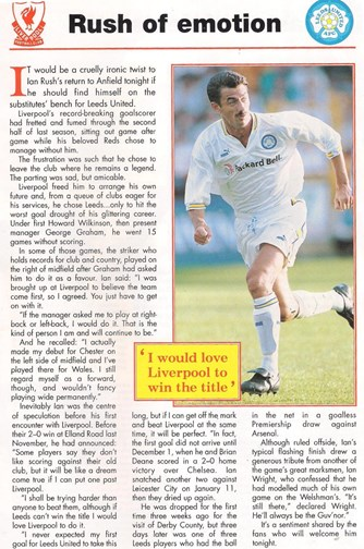 A return to Anfield as Leeds' star - November 1996