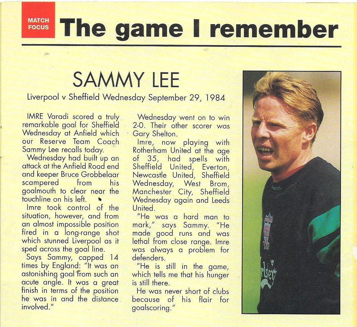 The game I remember - Sammy Lee