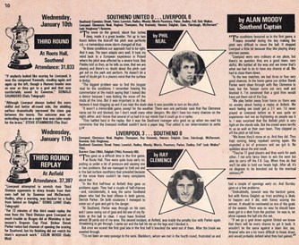 Game review of match against Southend on 10 January 1979