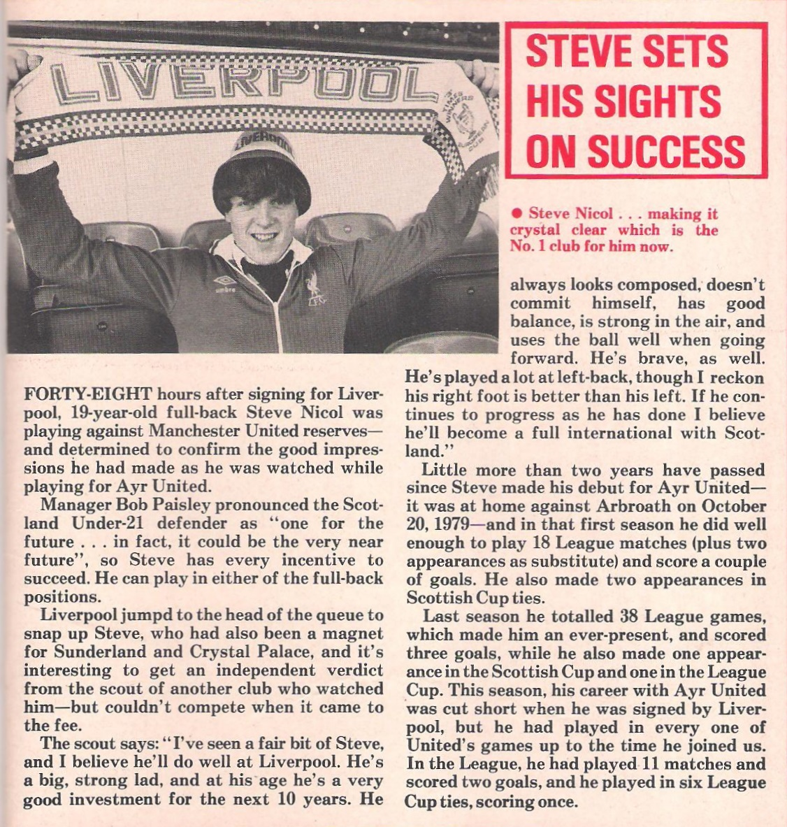Steve sets sights on success - 1981