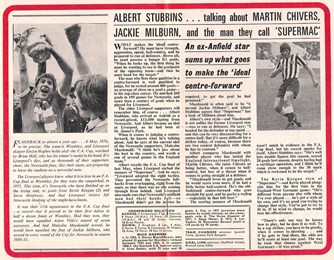 Stubbins on the ideal centre-forward and the 1974 FA Cup final - 1975