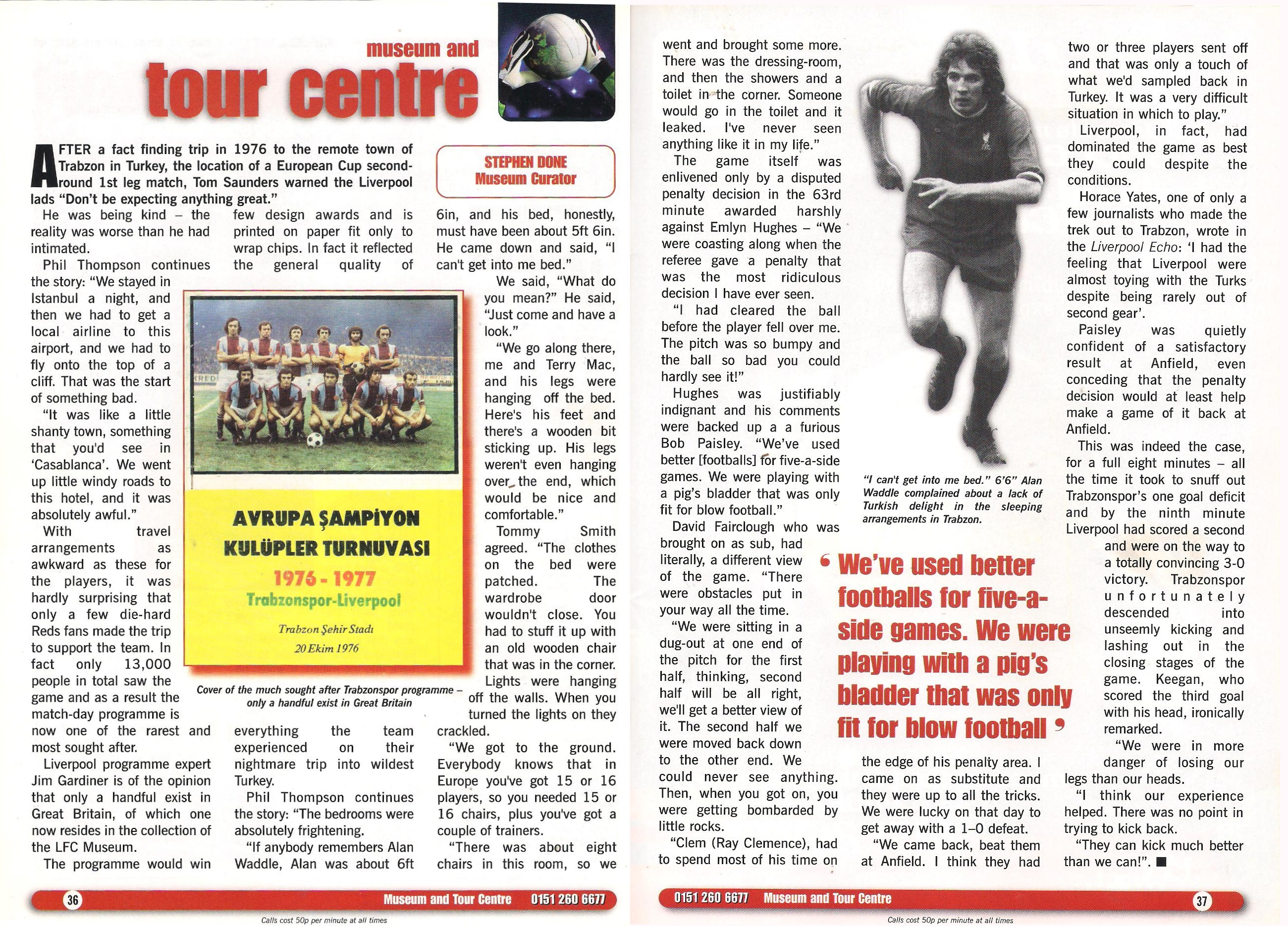 Stephen Done's column in Liverpool's match programme on Liverpool's trip to Trabzonspor