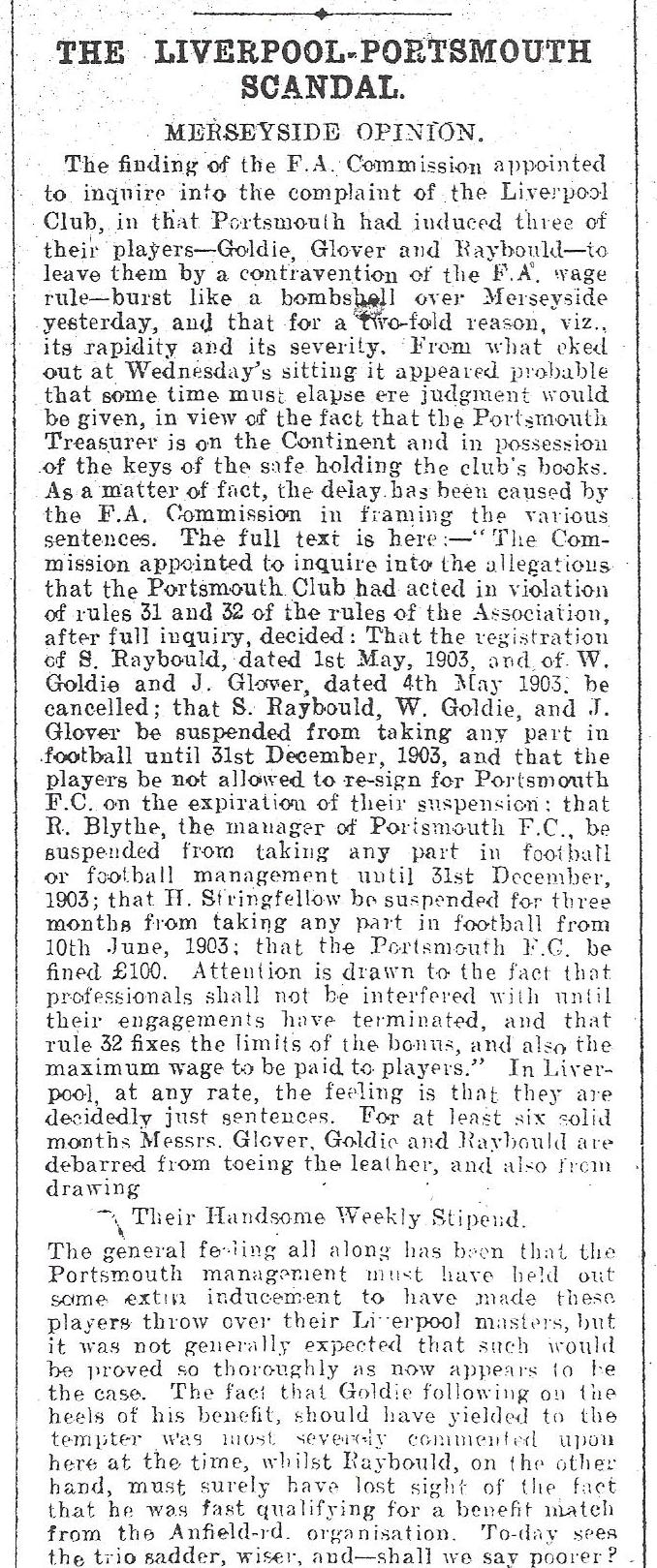 The Pompey scandal - 13 June 1903