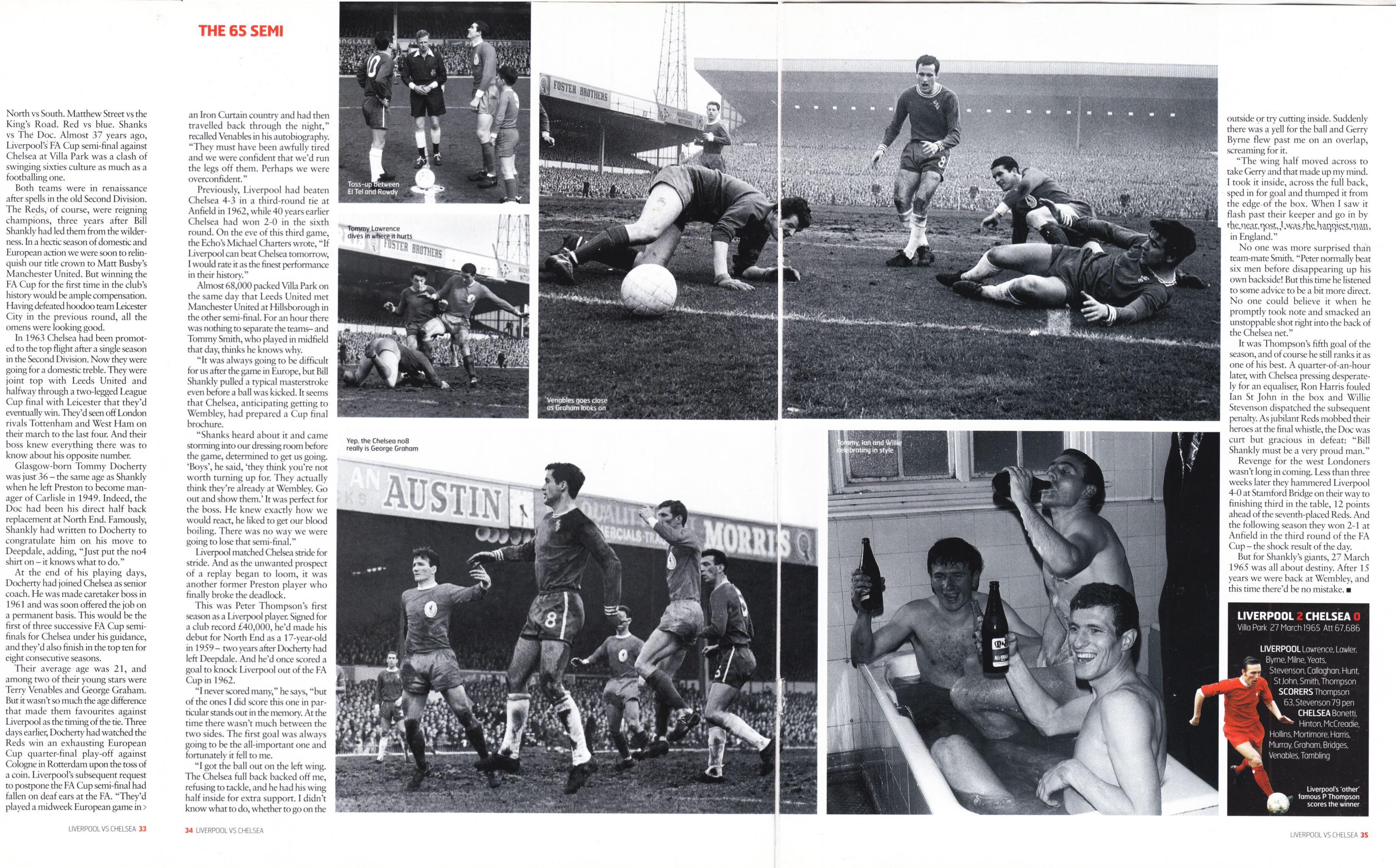 Liverpool's victory over Chelsea in 65 semi - LFC Official Matchday Magazine