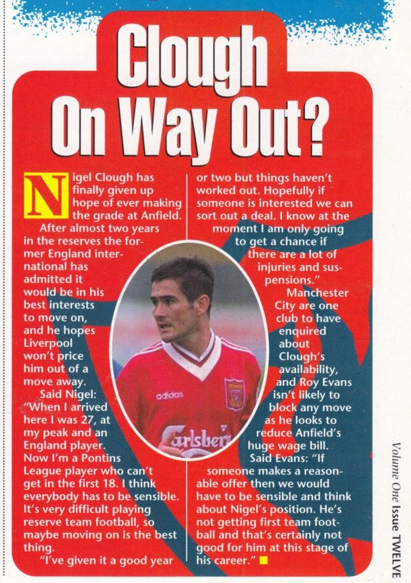 Clough on his way out - 1995/96