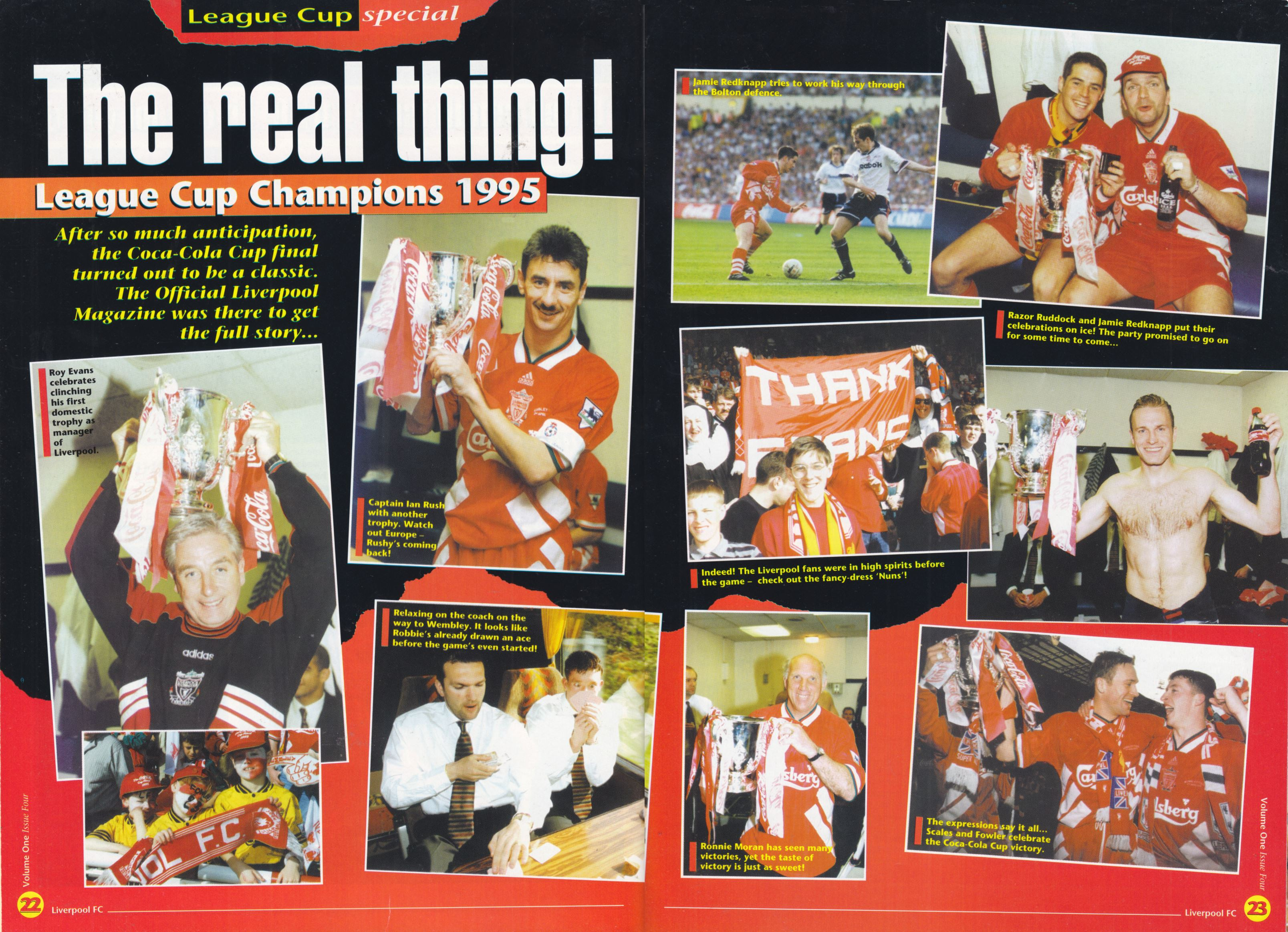 The Coca Cola Cup win celebrated in the LFC Magazine