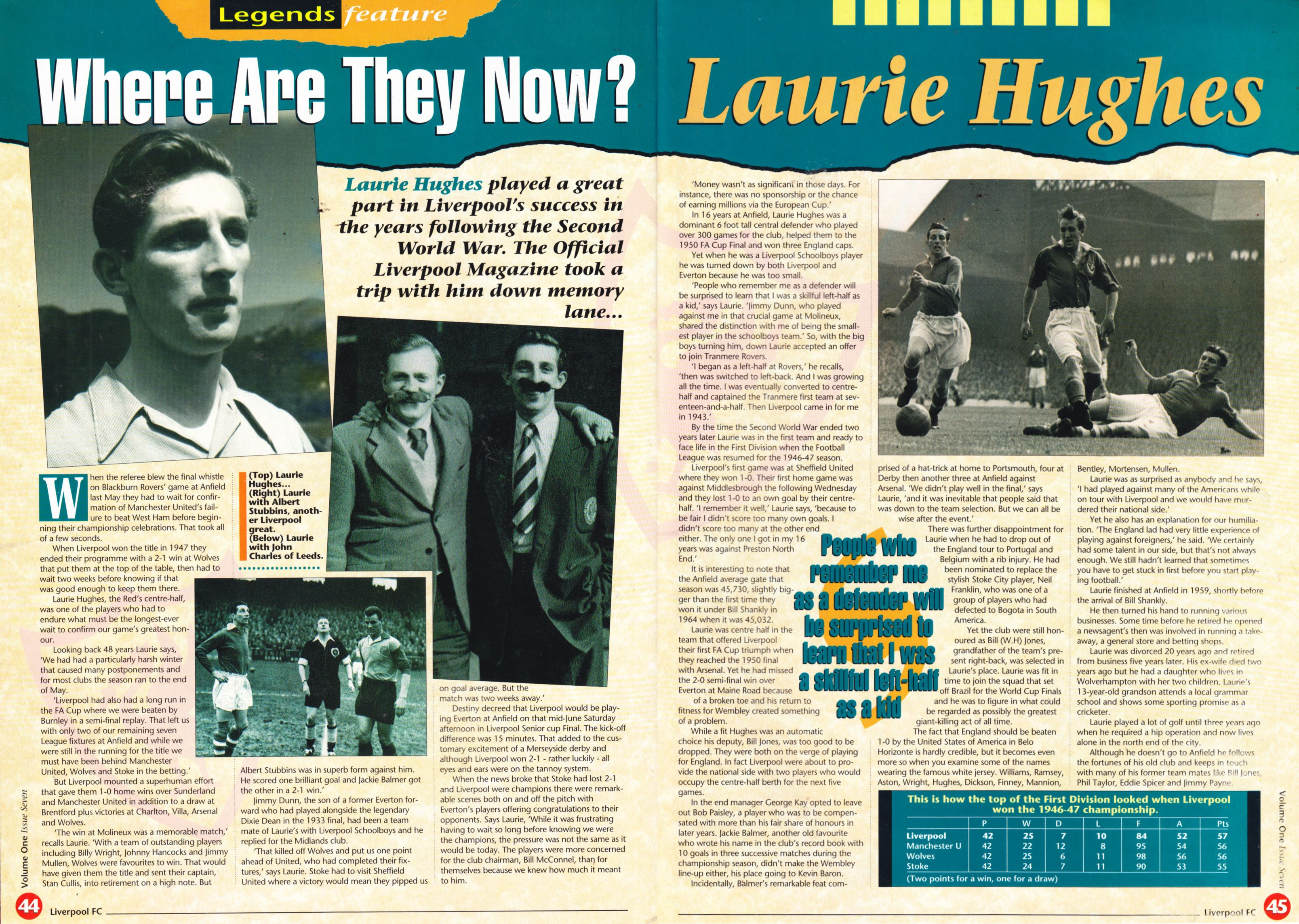 Where are they now? - Liverpool club magazine