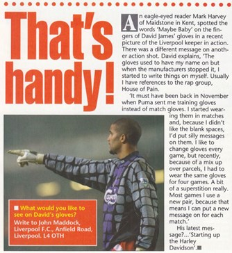 A keeper with a message - LFC Magazine 1994/95