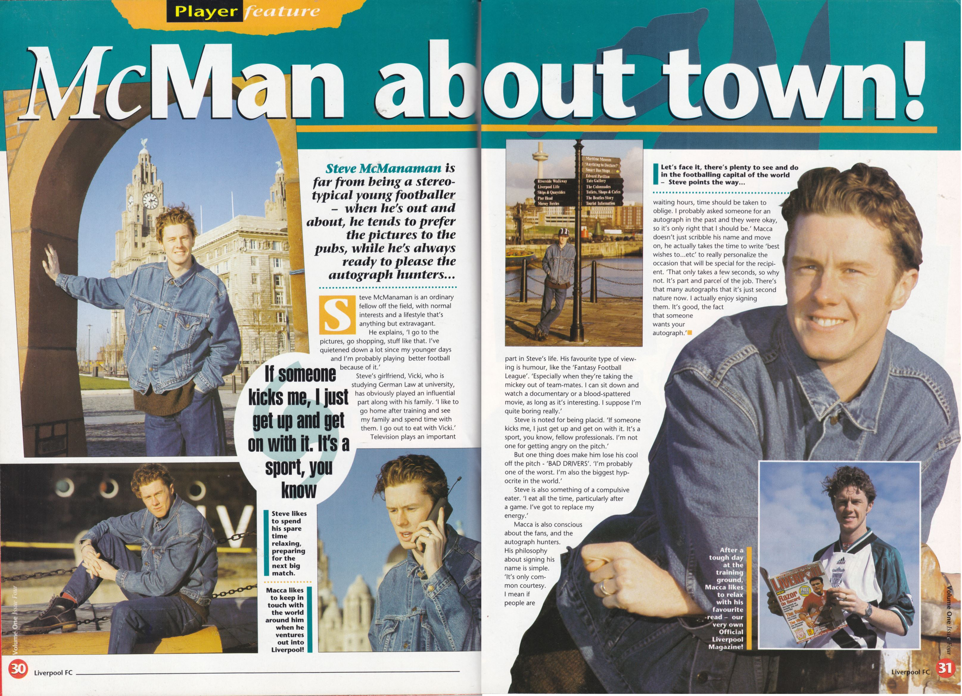 McManaman about town! - The Official Liverpool Magazine 1994/95