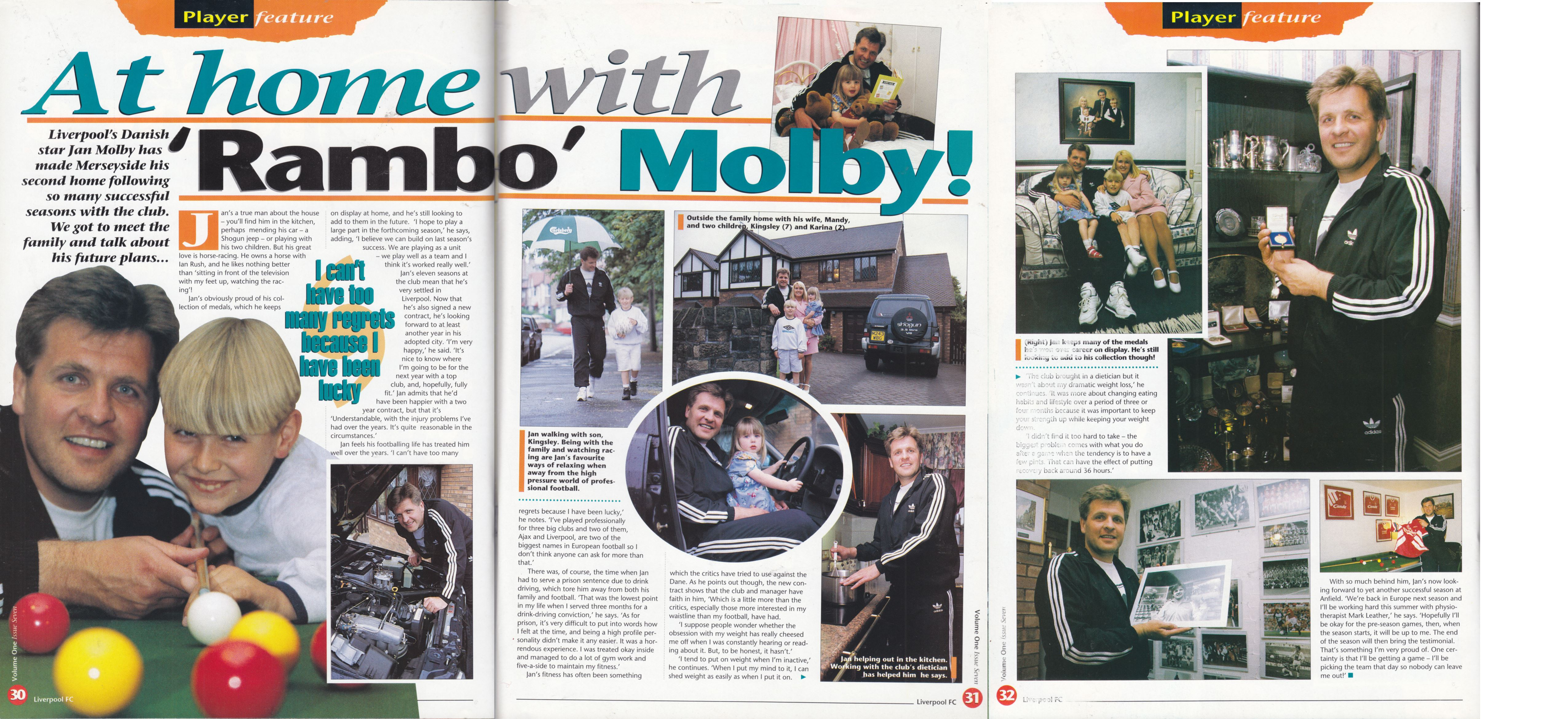 At home with Mølby - The Official Liverpool Magazine 1994/95