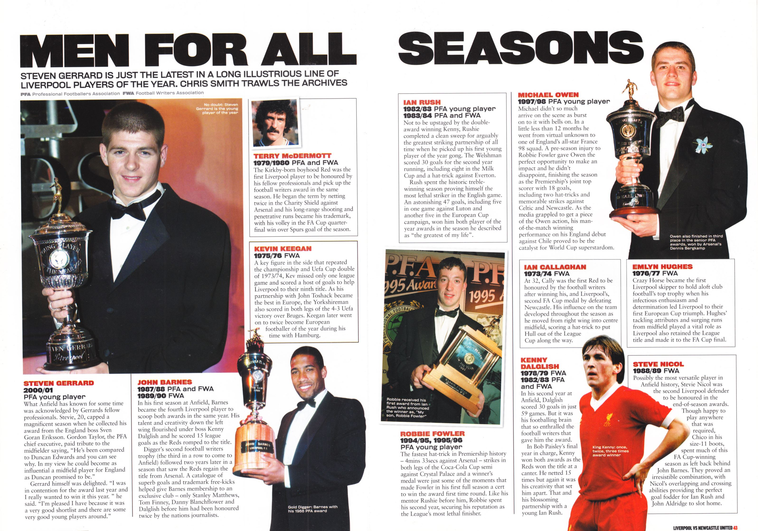 Players of the year - LFC Official Matchday Magazine