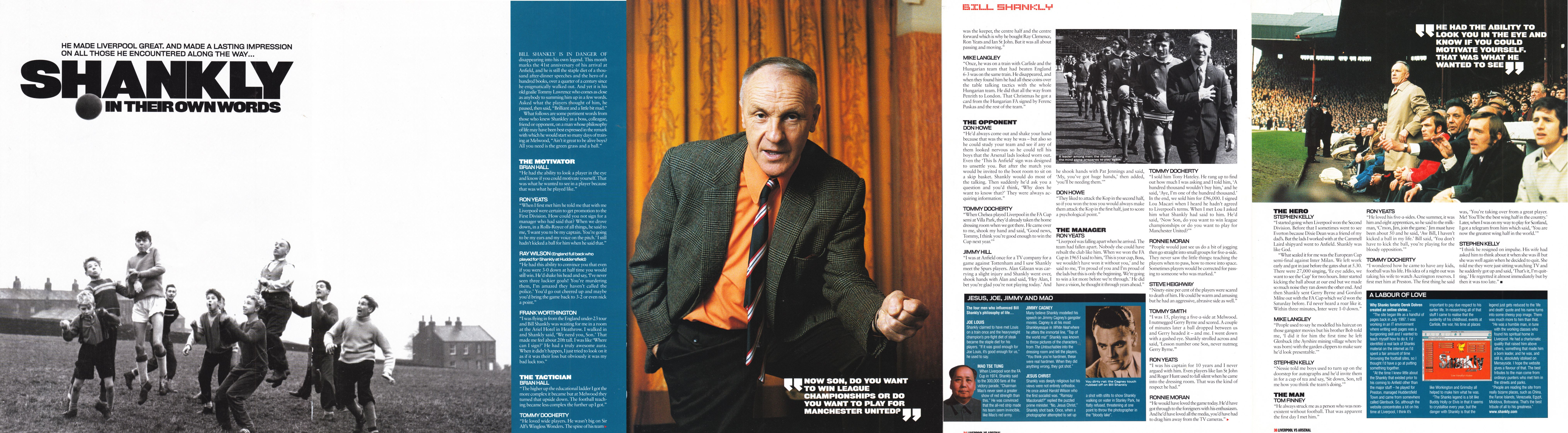 Shankly in their own words - LFC Official Matchday Magazine