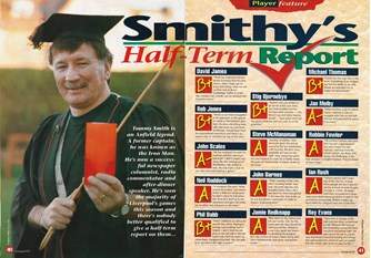 Smithy's half-term report - LFC Club Magazine 1994/95
