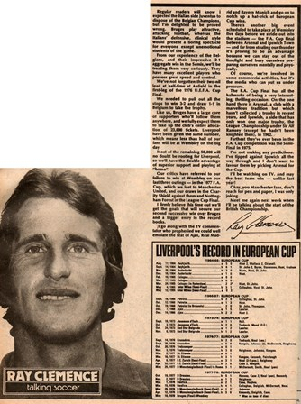 Ray Clemence talking soccer
