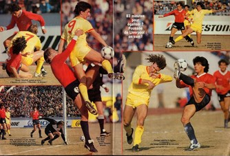 In action versus Independiente 1985