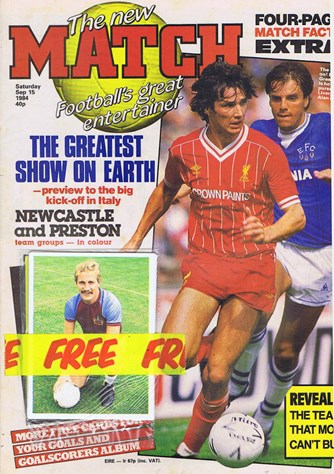 Alan Hansen on Cover of Match