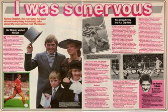 Kenny Dalglish receives his MBE in March 1985 - From Shoot!