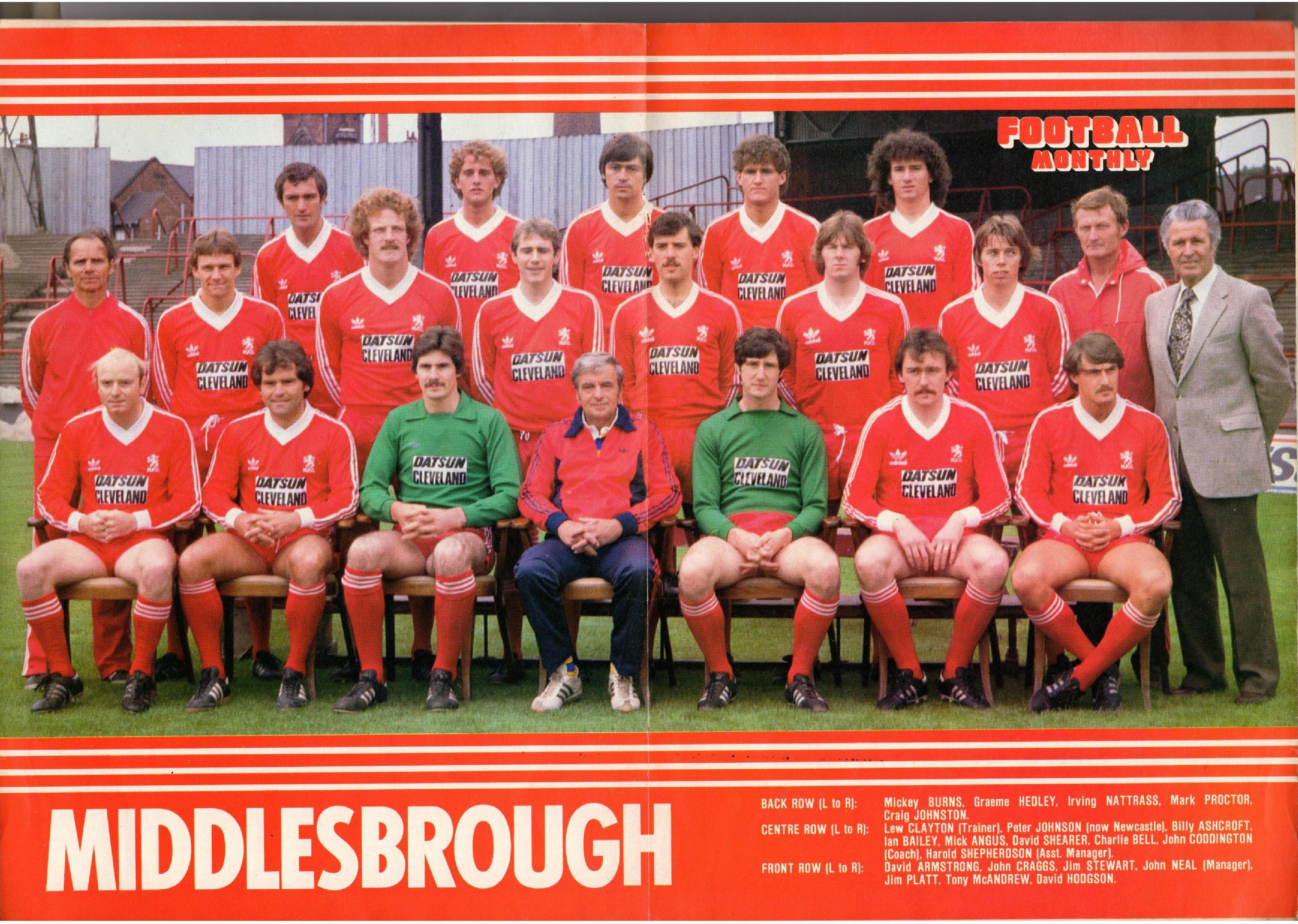Middlesbrough March 1981