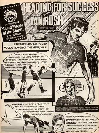 Heading for success - best young player of the year 1983