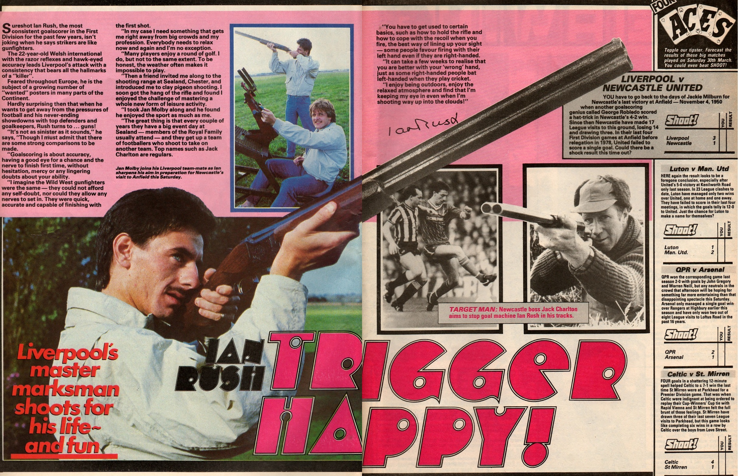 Trigger happy! from Shoot May 1985