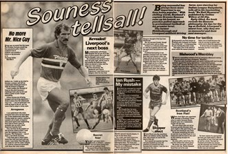 Souness tells all in Shoot! in 1985