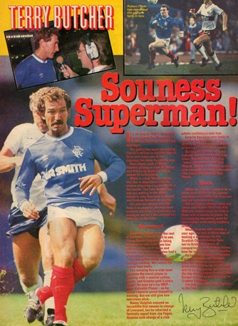 Souness Superman by Terry Butcher