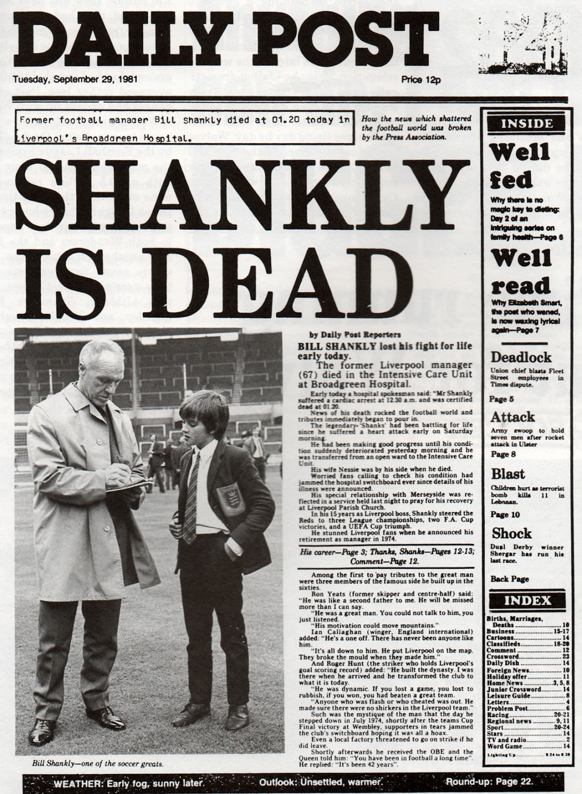 Bill Shankly - LFChistory - Stats galore for Liverpool FC!