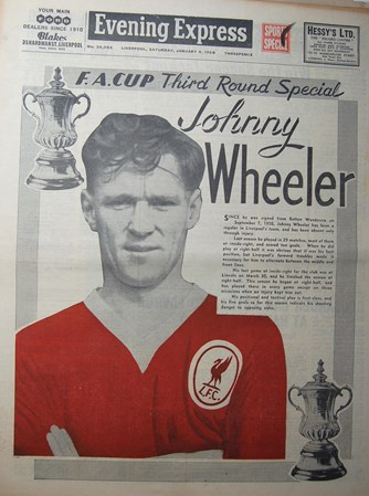 Johnny Wheeler on the cover of the Evening Express on 4 January 1958
