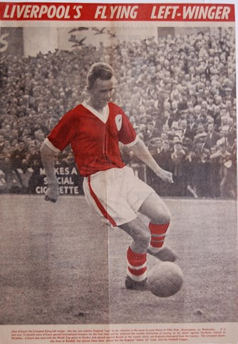 A'Court - Liverpool's left-flying winger - January 1958