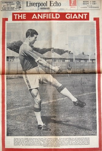 Yeats on the cover of the Liverpool Echo on 9 September 1961